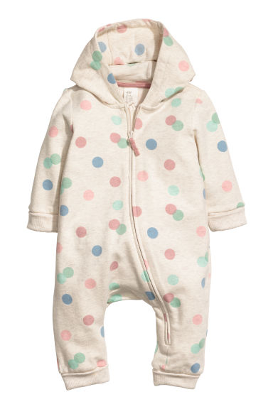 Sweatshirt all-in-one suit - Natural white/Patterned - Kids | H&M