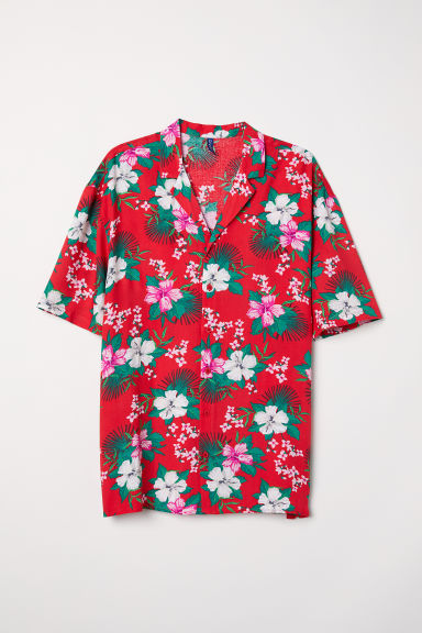 Patterned resort shirt - Red/Patterned -  | H&M CN