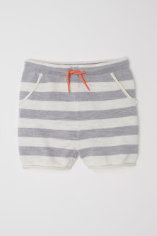 Fine-knit cotton shorts