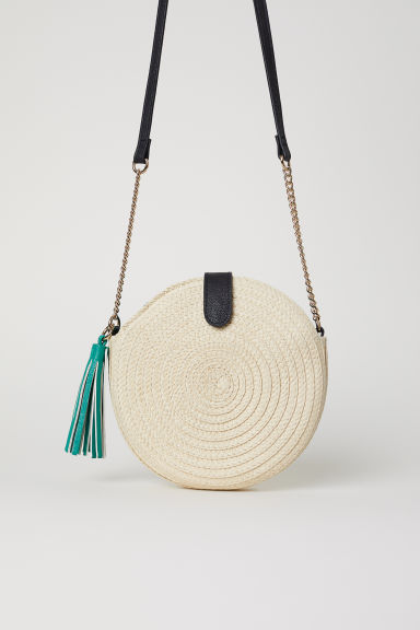 Round Straw Bag - Natural - Ladies | H&M CA
