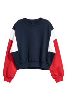 Sweat-shirt color block