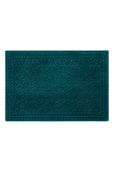 Tapis de bain jacquard - Pétrole - Home All | H&M FR 1