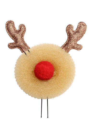 Hair doughnut and hair pins - Light beige/Reindeer -  | H&M
