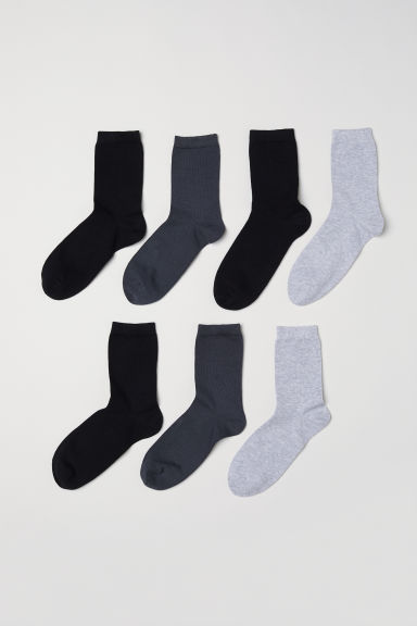 7-pack socks - Grey - Kids | H&M