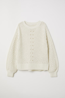 Knitted chenille jumper