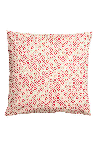 Patterned cushion cover - Natural white/Patterned -  | H&M IE