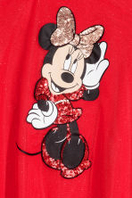 Vestido en tul brillante - Rojo vivo/Minnie Mouse -  | H&M ES 3