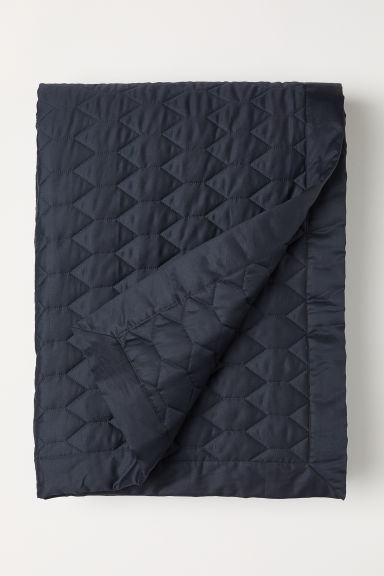 Quilted bedspread - Anthracite grey - Home All | H&M CN