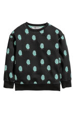 Sweater met print - Zwart -  | H&M BE 2