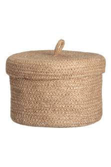 Braided jute basket