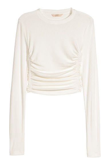 Short top - White - Ladies | H&M
