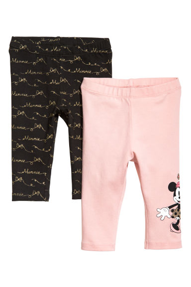 2-pack leggings - Black/Minnie Mouse - Kids | H&M GB