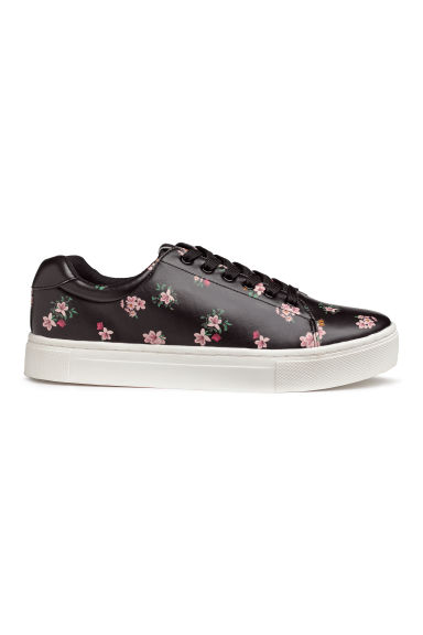 Trainers - Black/Floral - Ladies | H&M GB