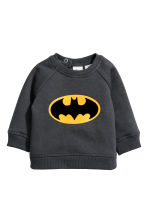 Sweatshirt and joggers - Dark grey/Batman - Kids | H&M CN 2