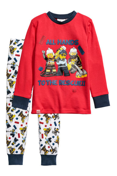 Tricot pyjama - Rood/Lego - KINDEREN | H&M BE