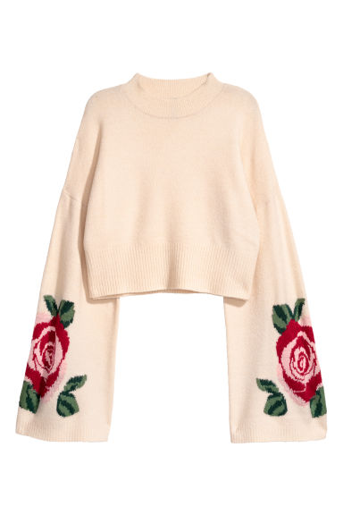 Knitted jumper - Light beige -  | H&M GB