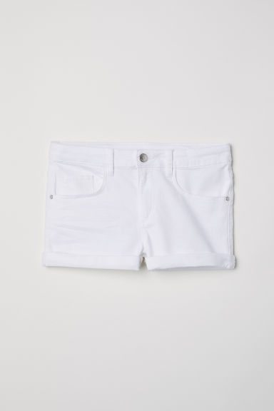 Short en twill Coupe ample - Blanc -  | H&M CH