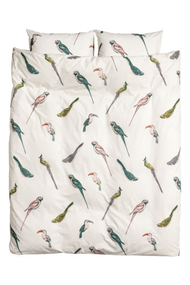 Patterned duvet cover set - White/Patterned - Home All | H&M IE
