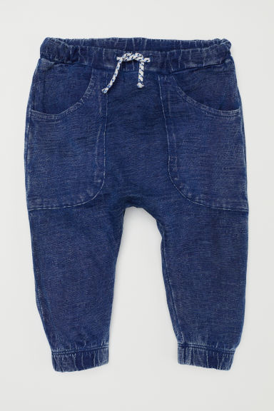 Pantaloni in jersey con tasche - Blu denim - BAMBINO | H&M IT