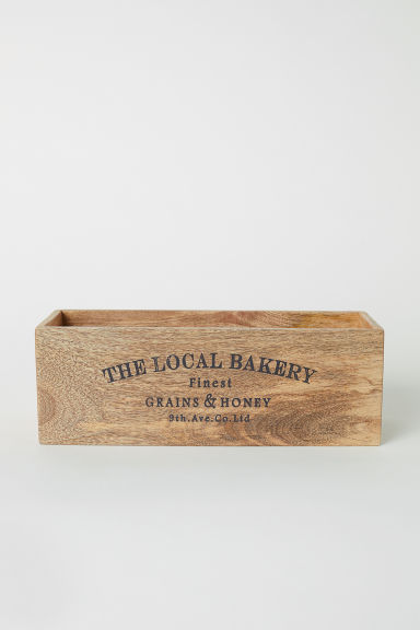 Rectangular wooden box - Natural - Home All | H&M IE