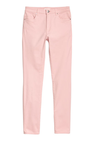 Trousers Skinny fit - Light pink - Ladies | H&M