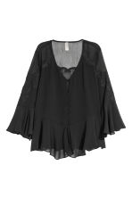 Wide chiffon blouse - Black - Ladies | H&M CN 2