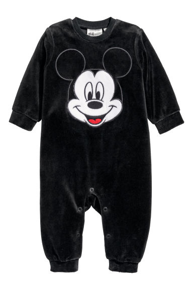 Velours pyjamapakje - Zwart/Mickey Mouse - KINDEREN | H&M BE
