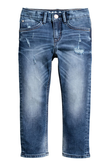Super Soft Slim Fit Jeans - 牛仔蓝 - Kids | H&M CN