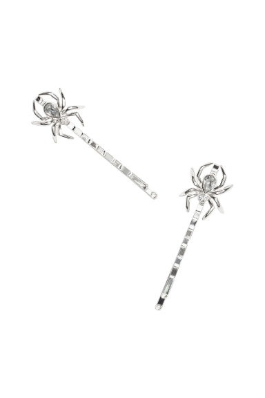 2-pack hair grips - Silver-coloured -  | H&M IE 1