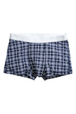 3-pack trunks - Dark blue/Checked - Men | H&M IE 4