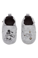 Chaussons souples - Gris chiné/Mickey - ENFANT | H&M BE 2