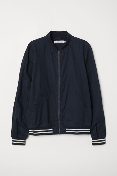 Cotton bomber jacket Model
