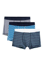 3-pack trunks - Dark blue/Multicoloured - Men | H&M GB 2