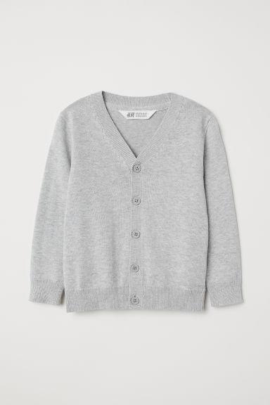 Fine-knit cardigan - Light grey - Kids   H&M GB