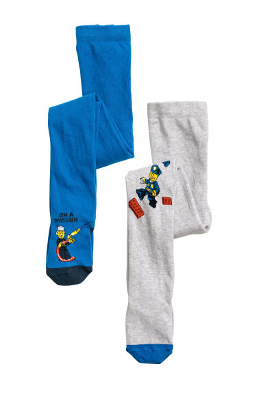 2-pack tights - Blue/Lego -  | H&M CN