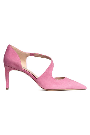 Suede court shoes - Pink - Ladies | H&M CN