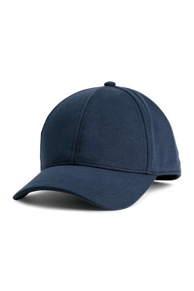 Cotton-blend cap - Dark blue - Men | H&M GB