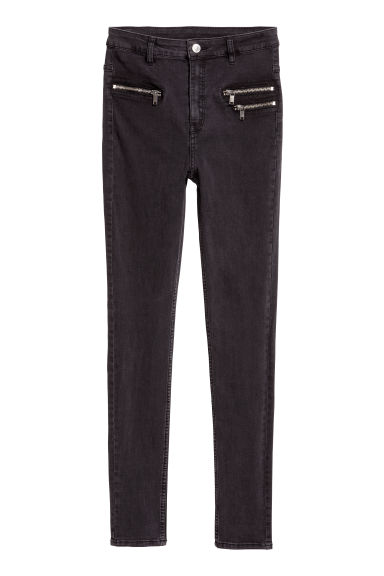 Slim High Ankle Jeans - Black denim -  | H&M IE