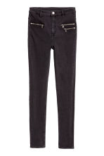 Slim High Ankle Jeans - 黑色牛仔布 - Ladies | H&M CN 2