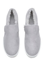 Warm-lined slip-on trainers - Light grey - Ladies | H&M 2
