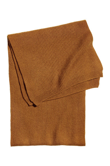 Ribbed cashmere scarf - Camel -  | H&M GB