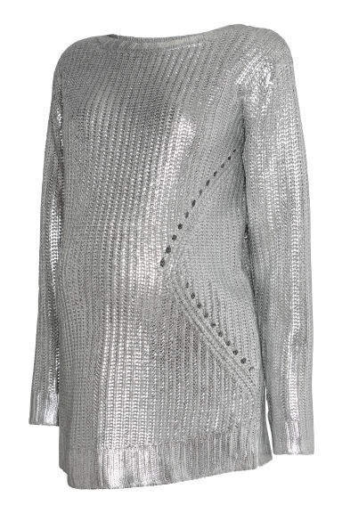 MAMA Coated jumper - Silver-coloured - Ladies | H&M CN