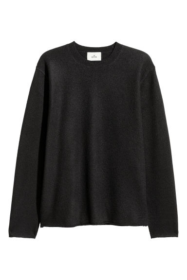 Boiled wool jumper - Black -  | H&M