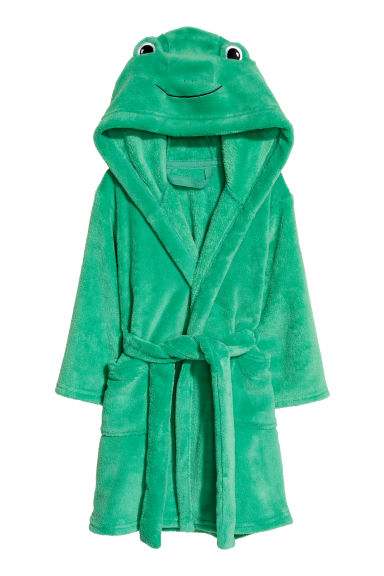 Vestaglia in pile - Verde/rana -  | H&M IT