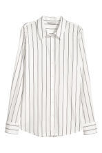 Long-sleeved shirt - White/Striped - Ladies | H&M 1