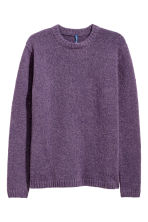 Rib-knit jumper - Dark purple - Men | H&M IE 2