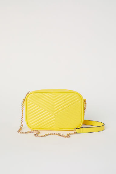 Quilted shoulder bag - Yellow - Ladies | H&M CN