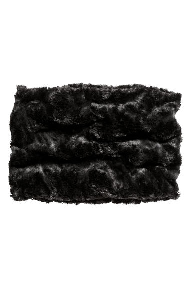Faux fur tube scarf - Black - Kids | H&M CN