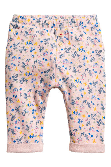 Patterned trousers - Powder pink/Patterned - Kids | H&M CN