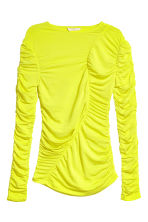 Draped top - Neon yellow - Ladies | H&M CN 2